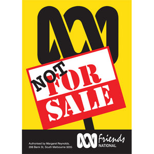"Poster : ""Not for sale"""