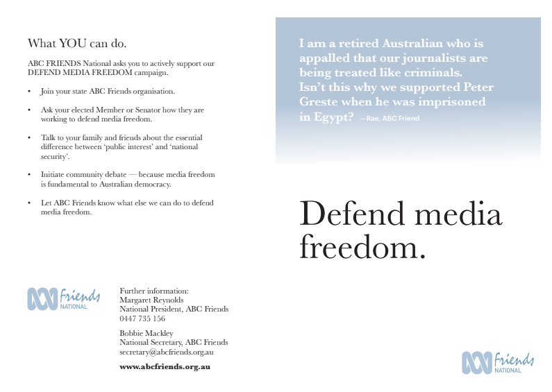 Flyer: Defend Media Freedom