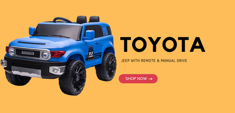 Toyota Ride on Jeep 12V For Kids Battery Operated Blue & Black