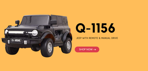 2. New Ride on Jeep 12V For Kids Battery Operated Red & Black Q-1156