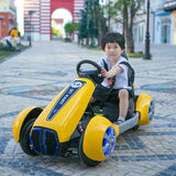 GT Kart Style Motorcycle for Kids-Ride on Bike-11Cart-Yellow-11Cart