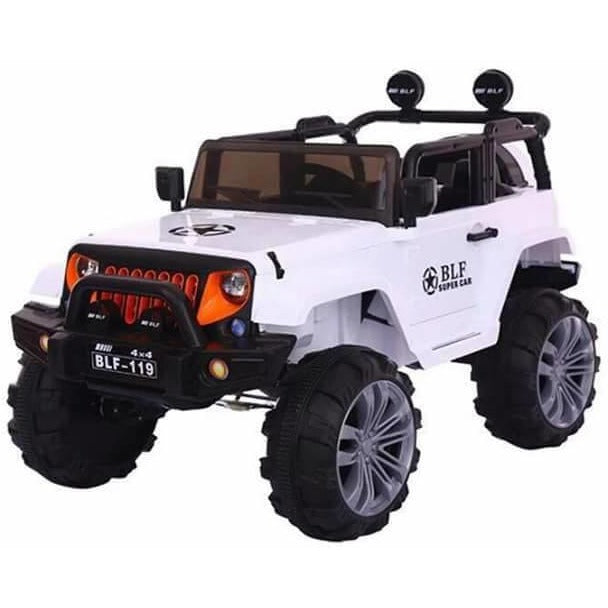 12V Ride on Jeep White-Ride on Cars-11Cart-11Cart