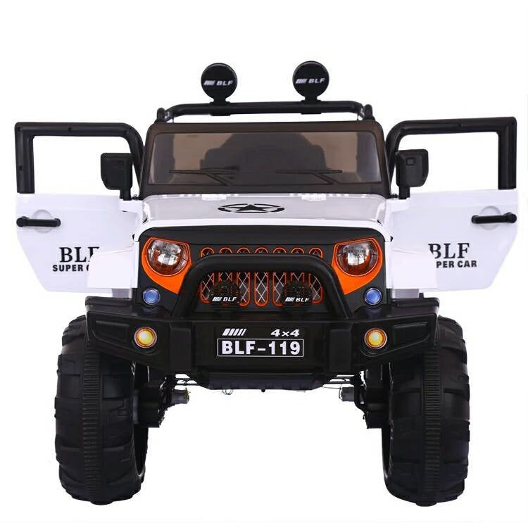 Battery Operated 12V Ride on Jeep White