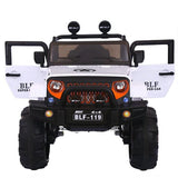 12V Ride on Jeep White-11Cart