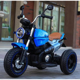 12V Kids Electric Motorcycle Blue - 11Cart