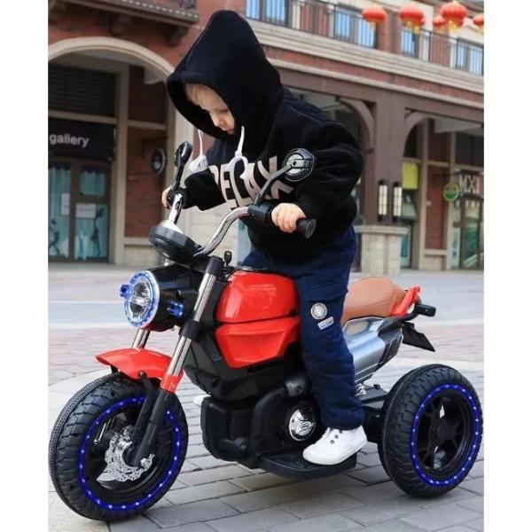 12V Kids Electric Motorcycle Red - 11Cart