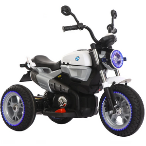 e87aebfb6d6 12V Kids Electric Motorcycle White-Ride on Bike-11Cart-11Cart