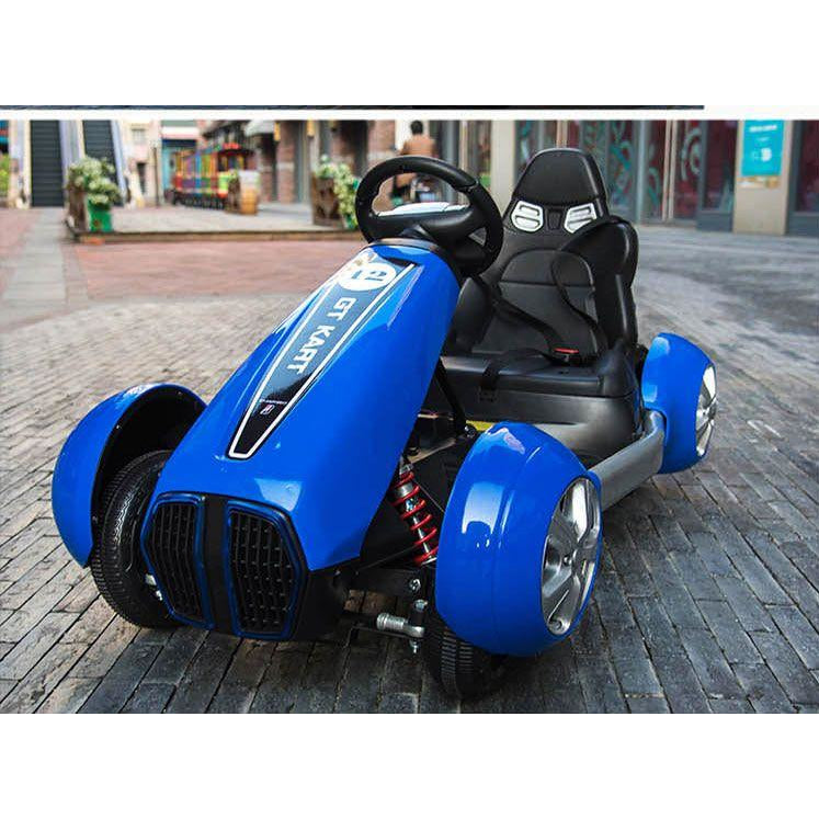 GT Kart Style Motorcycle for Kids-Ride on Bike-11Cart-Blue-11Cart