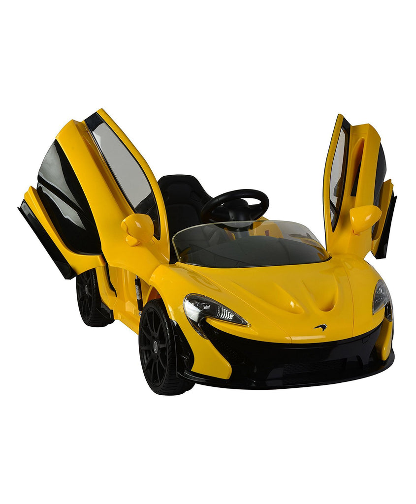 Mclaren Officially Licensed P1 12V Battery Operated Ride on Car For Child- Yellow