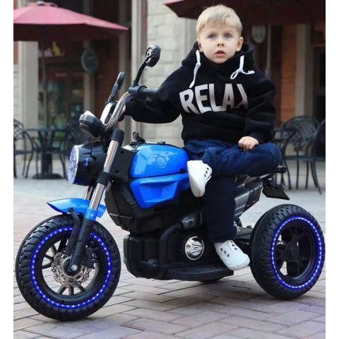 11Cart - 12V Kids Electric Motorcycle Blue kids bike - India 2019
