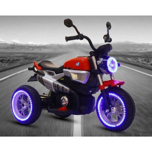 12V Kids Electric Motorcycle Red-Ride on Bike-11Cart-11Cart