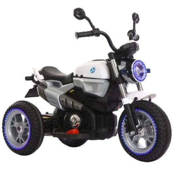 12V Kids Electric Motorcycle White-Ride on Bike-11Cart-11Cart