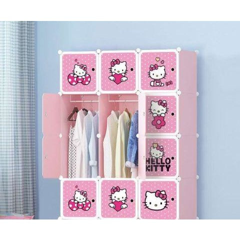 Hello Kitty 12 Cubes Portable Wardrobe - Pink - 11Cart