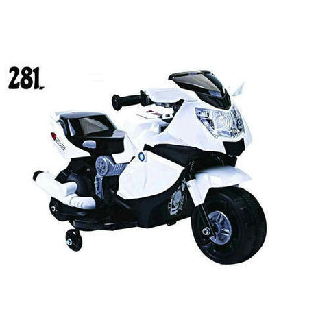 Battery Operated Ride on BMW Kids Bike - White