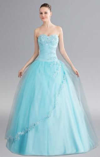 Aqua Fairytale Hall Sleeveless Bridal Gown