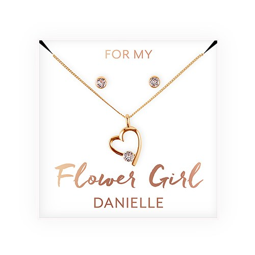 Personalized Bridesmaid Jewelry Gift Set