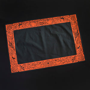 Harvest Altar Cloth - Black and Orange