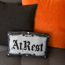 Load image into Gallery viewer, At Rest - Mini Casket Plate Inspired Pillow