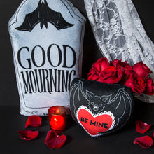 Load image into Gallery viewer, PRE ORDER - Be Mine Bat Mini Pillow
