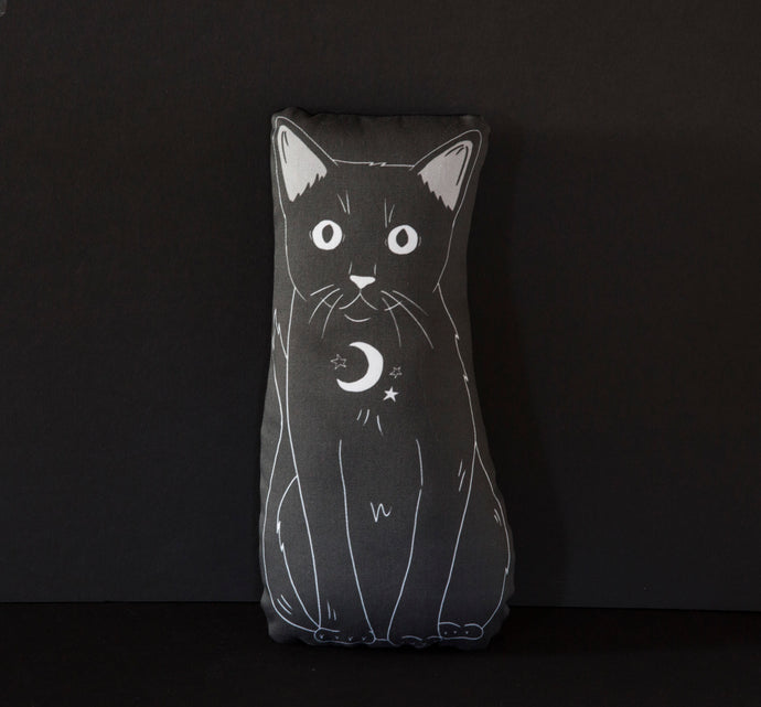 Shadow - Familiars Black Cat Mini Pillow