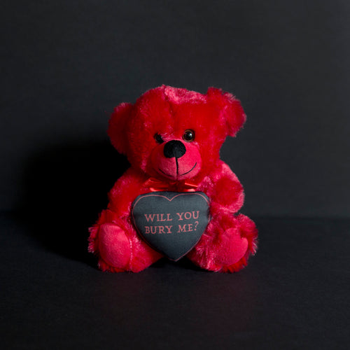PRE ORDER Will You Bury Me? Red Teddy Bear