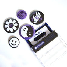 Load image into Gallery viewer, Truth or Scare Cassette Case Button Bundle
