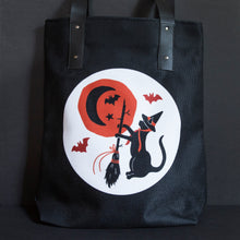 Load image into Gallery viewer, Moonlit Magic Fully Lined Vegan Tote