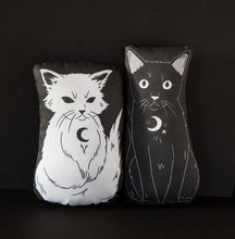 Load image into Gallery viewer, Shadow - Familiars Black Cat Mini Pillow
