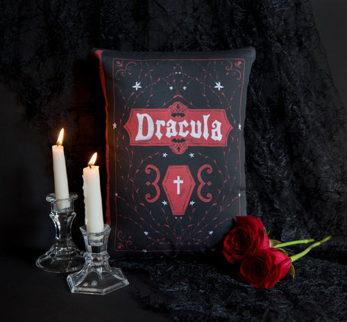 PRE ORDER Dracula Book Cover Pillow