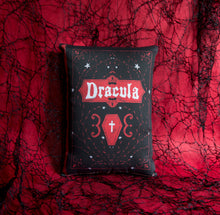 Load image into Gallery viewer, Dracula Book Cover Pillow