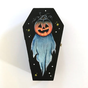 Will O'the Wisp Hand Painted Trinket Box
