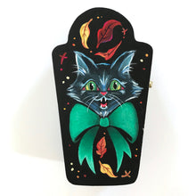 Load image into Gallery viewer, Fall Kitty Original Painting Mini Trinket Box