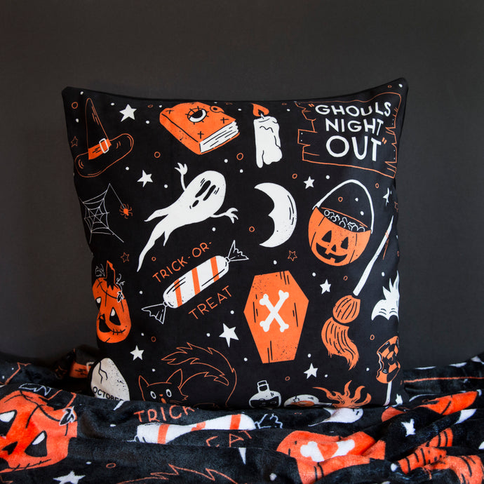 Ghouls Night Out - Velvet Pillow Cover