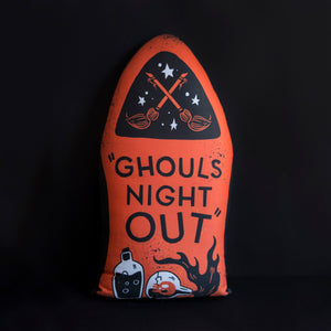 Ghouls Night Out - Large Gravestone Pillow