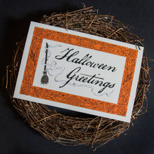 Load image into Gallery viewer, Halloween Greetings Large Postcard