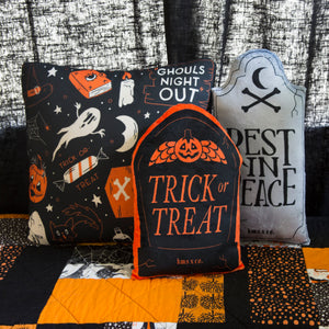 Trick or Treat Gravestone Throw Pillow