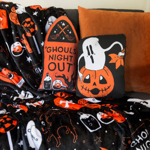 Ghouls Night Plush Throw Blanket