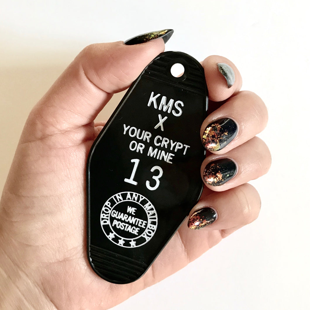 Your Crypt or Mine Motel Key Tag