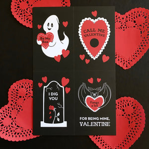 Perforated Valentine's Sheet - Set of Four Adjoined Cards