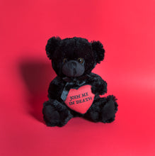 Load image into Gallery viewer, PRE ORDER Join Me In Death - Black Teddy Bear