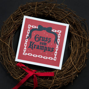 Gruss Vom Krampus Greeting Card