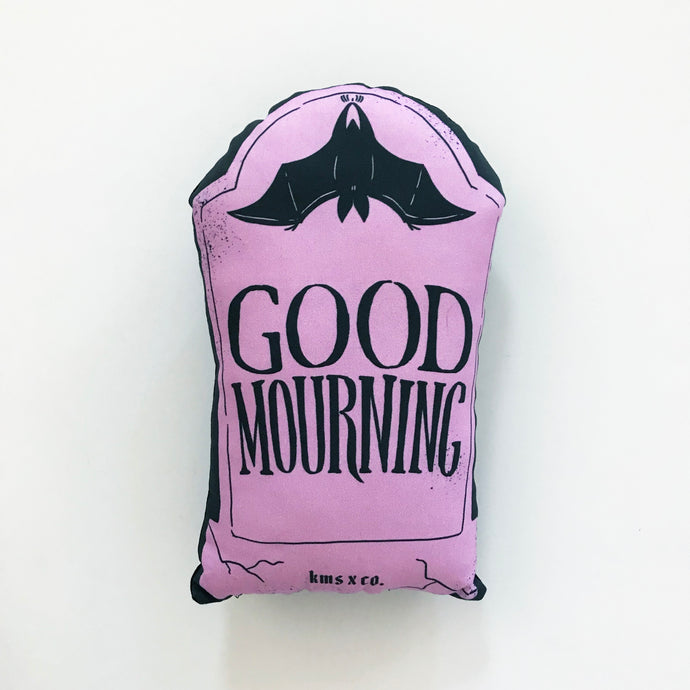 Mini Pastel Good Mourning Pillow