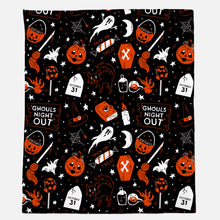 Load image into Gallery viewer, Ghouls Night Plush Throw Blanket
