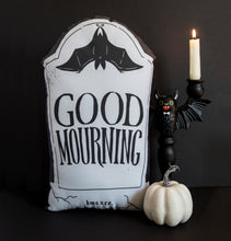 Load image into Gallery viewer, Good Mourning - Large Gravestone Pillow