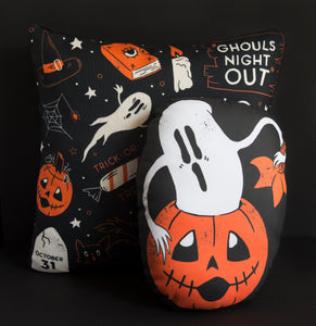 LAST ONE! Ghouls Night Out - Patterned Pillow Cover