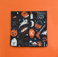 Load image into Gallery viewer, LAST ONE! Ghouls Night Out - Patterned Pillow Cover