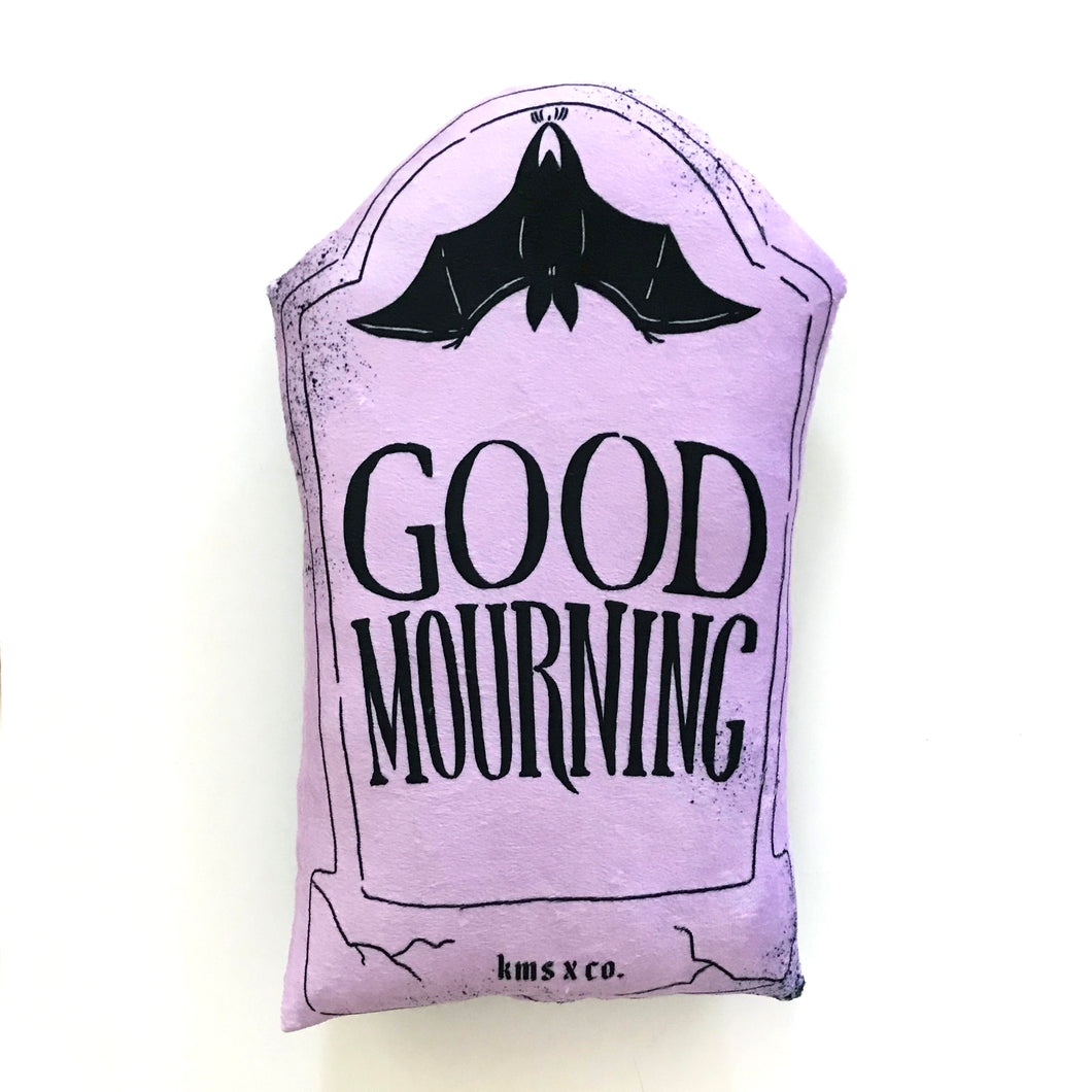 Pastel Purple Good Mourning Pillow