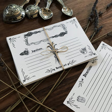 Load image into Gallery viewer, Kitchen Witchery Recipe Card Set - Set of 5