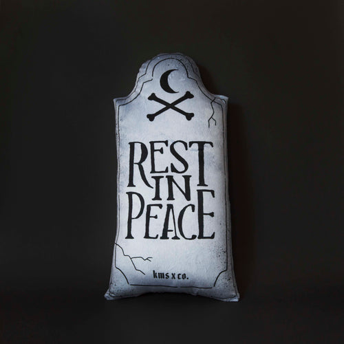 Rest In Peace - Large Gravestone Pillow