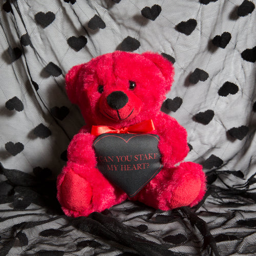 Can You Stake My Heart - Red Teddy Bear